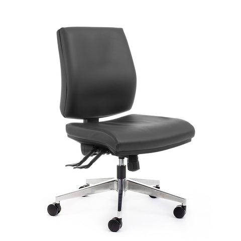 Quattro Mid Back Black Office Chair