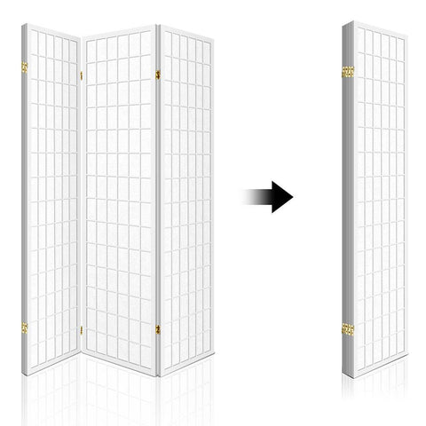 Artiss 4 Panel Wooden Room Divider - White space saving