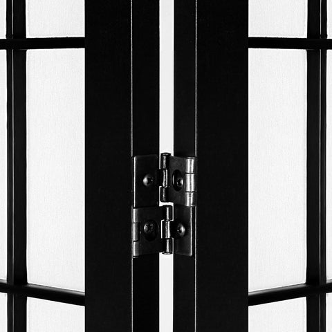 Artiss 6 Panel Room Divider Screen Privacy Dividers Pine Wood Stand - Black/White two way metal hinge