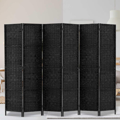 Artiss 6 Panel Room Divider - Black large office partition