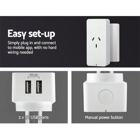 WiFi Smart Plug Home Socket Switch Outlet APP Control USB Port Alexa Google Home