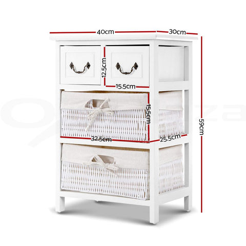 Alcott Storage Cabinet Chest of Drawers - White dimensions