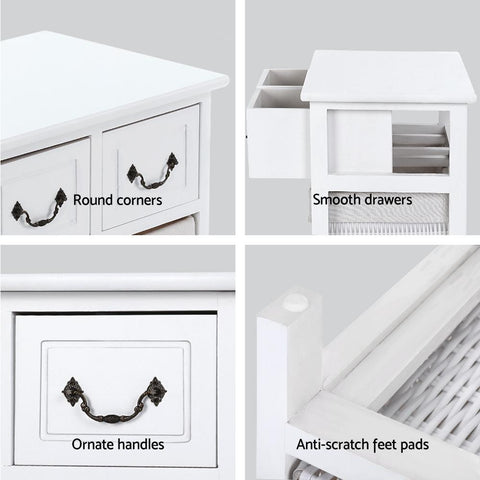 Alcott Storage Cabinet Chest of Drawers - White office cabinet