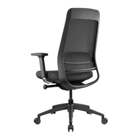 Sync mesh back task chair left rear arms standard base 2