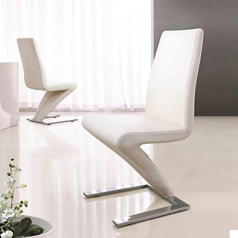 Z Chair Dining Chair x 2 - White