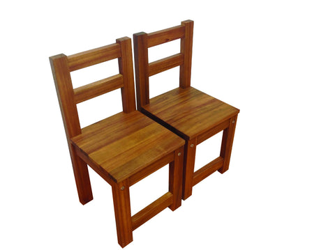 Wooden Kids Chair - Walnut