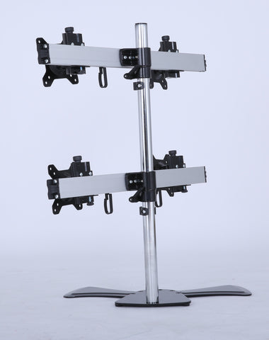 Quad/4 XL LCD Monitor Desktop Freestanding Mount Stand screen holder