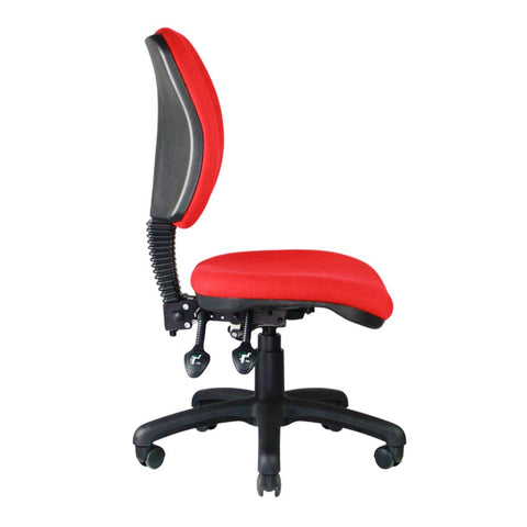 Vortex task chair red no arms left