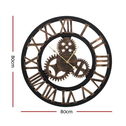 80cm Wall Clock Extra Large Vintage Silent