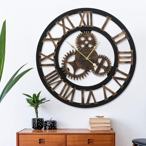 80cm Wall Clock Extra Large Vintage Silent steampunk clock