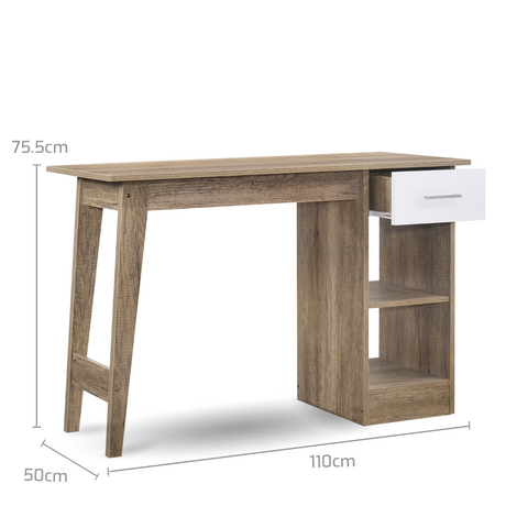 Wooden Scandinavian Computer Desk - Oak