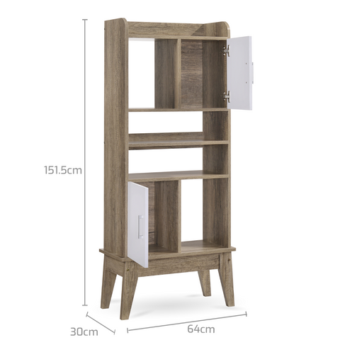Display Shelves Stand Cabinet - Oak dimensions