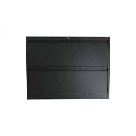Ausfile 2 Drawer Lateral Filing Cabinet-LAT-2 Easy for filing black lateral cabinet