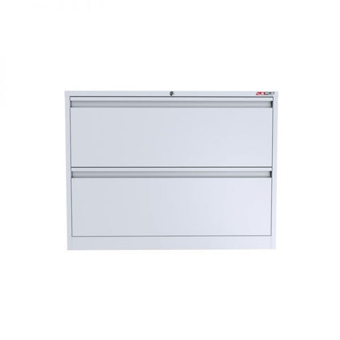Ausfile 2 Drawer Lateral Filing Cabinet-LAT-2 Easy for filing white lateral cabinet