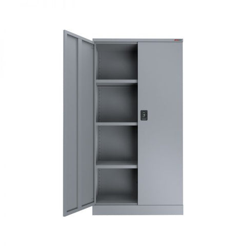 ausfile-stationery-cupboard-1830-high-3-shelves-cup-1830 Grey 3 Shelves Cabinet