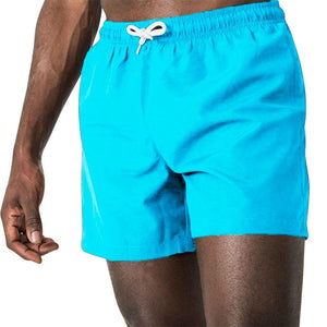 Solid Swimwear Men Swimming Trunks