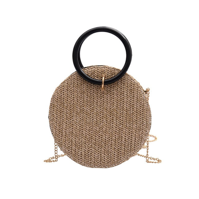 Summer Straw Round Bags For Women