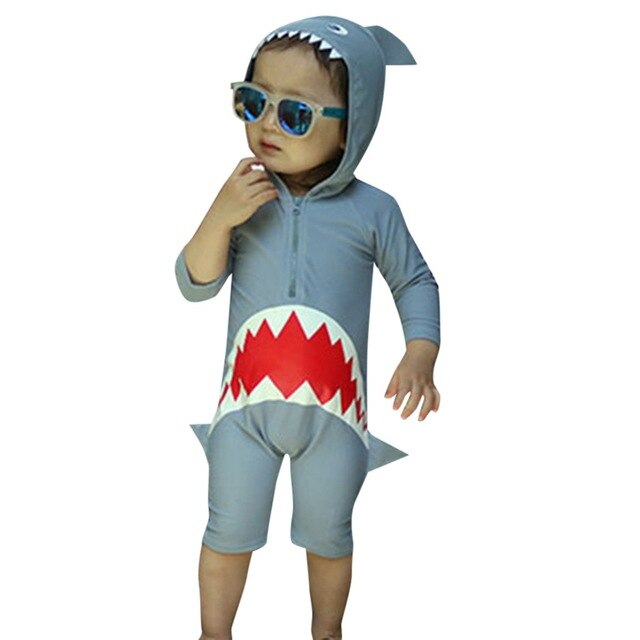 Children Swimsuit Baby Boy Swimwear Animal Sharks