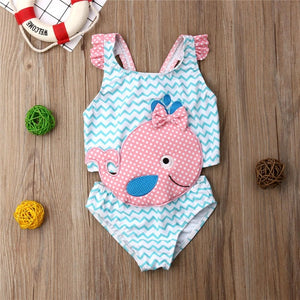 Kids Swimwear Baby Girl Swimsuit One-Piece Goldfish