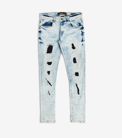 Decibel  Stone Embroidery Jeans L30  Blue - 013020L30-LSB | Jimmy Jazz