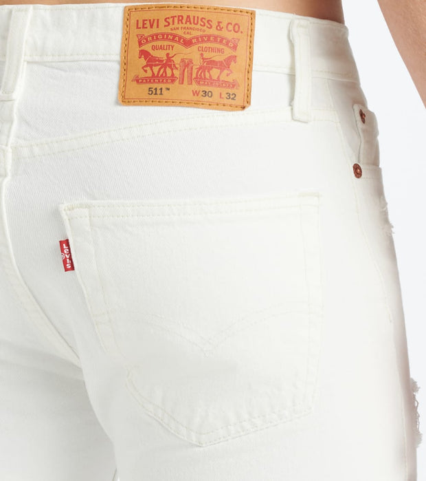 Levis  511 Slim Jean - L30  White - 04511L30-4148 | Jimmy Jazz