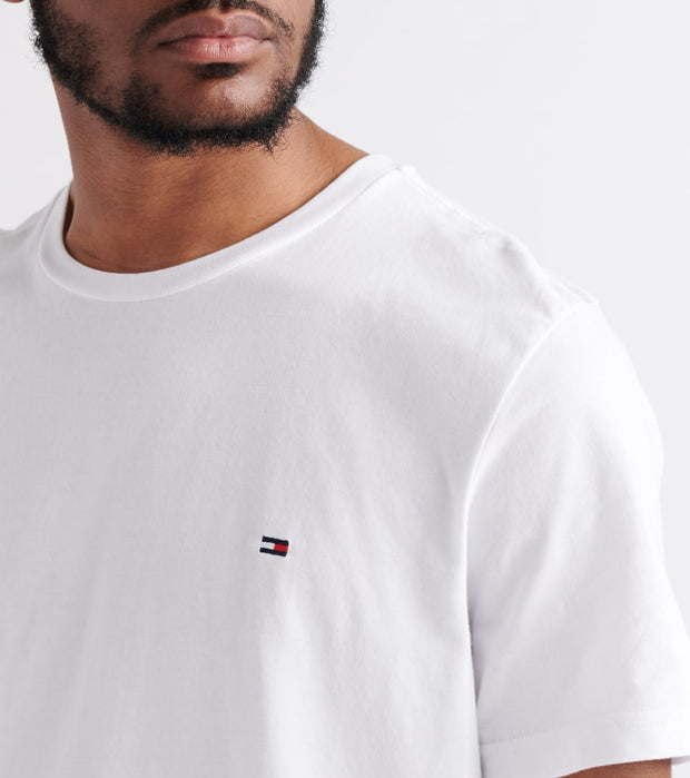 Tommy  Chest Logo Solid Tee  White - 09T3139-100 | Jimmy Jazz