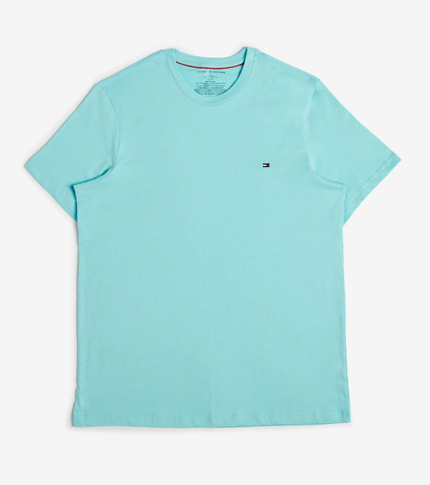 Tommy  Chest Logo Solid Crew Neck Tee  Blue - 09T3139-455 | Jimmy Jazz