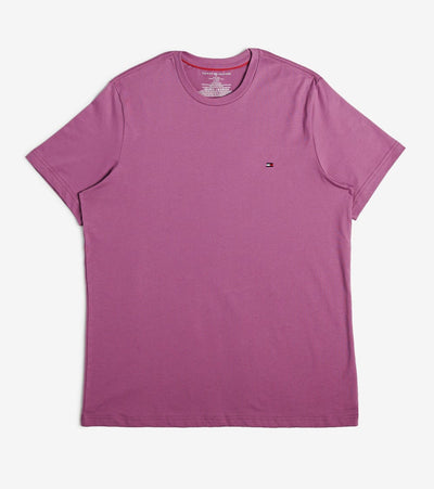 Tommy  Chest Logo Solid Crew Neck Tee  Purple - 09T3139-547 | Jimmy Jazz