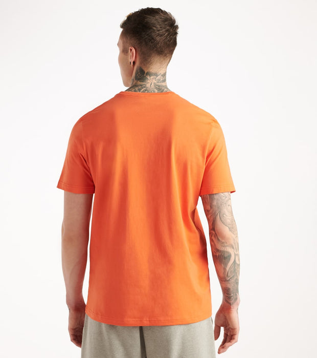 Tommy  Chest Logo Solid Crew Neck Tee  Orange - 09T3139-812 | Jimmy Jazz