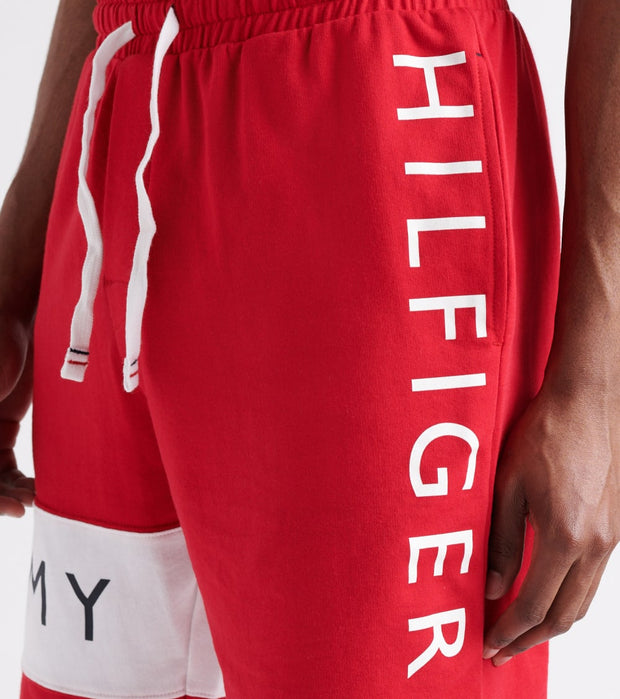 Tommy  Logo Fleece Shorts  Red - 09T3308-608 | Jimmy Jazz