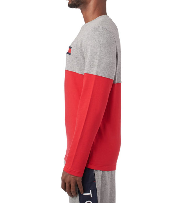 Tommy  COLOR BLOCK LOGO LS CREW  Grey - 09T3320-004 | Jimmy Jazz