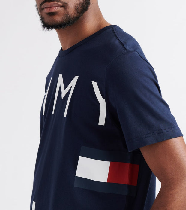 Tommy  Logo Graphic Tee  Navy - 09T3334-410 | Jimmy Jazz