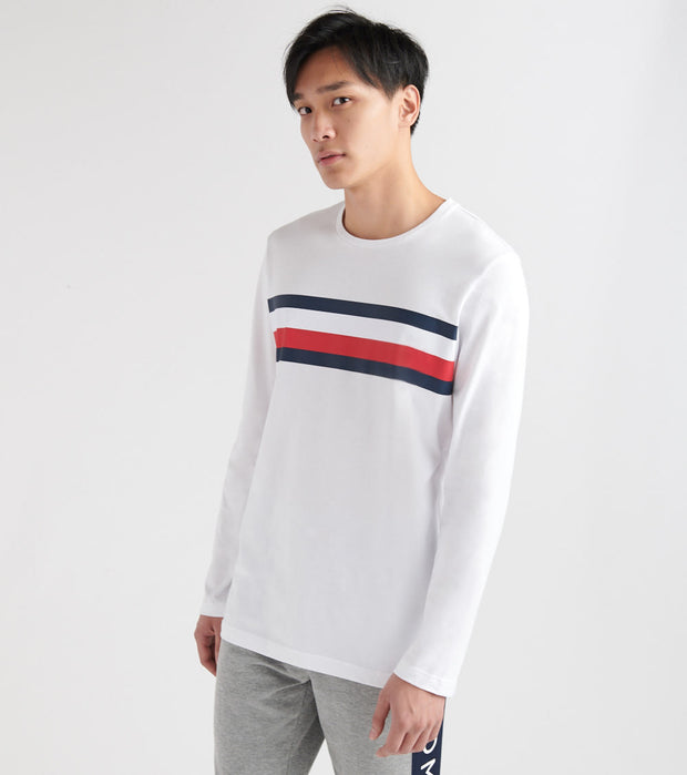 Tommy  LOGO STRIPE LS TEE  White - 09T3430-100 | Jimmy Jazz