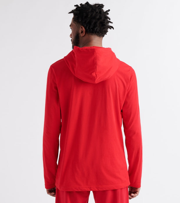 Tommy  Logo Pullover Hoodie  Red - 09T3552-608 | Jimmy Jazz