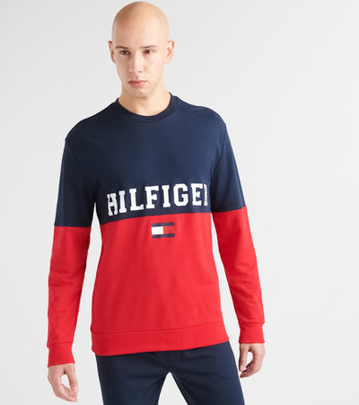 Tommy  Hilfiger Color Block Crew Neck  Navy - 09T3605-410 | Jimmy Jazz