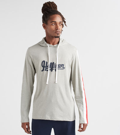Tommy  Script Pullover Hood  Grey - 09T3617-004 | Jimmy Jazz