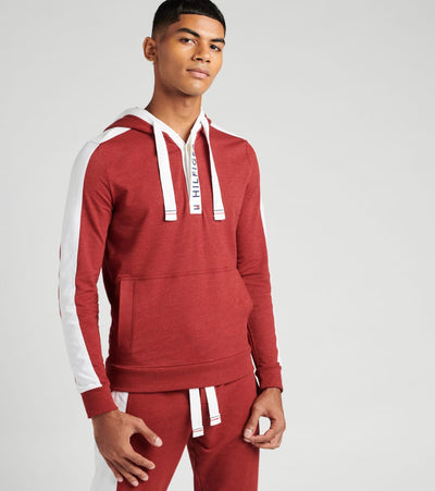 Tommy  French Terry Pullover Hooded Sweatshirt   Red - 09T3644-610 | Jimmy Jazz