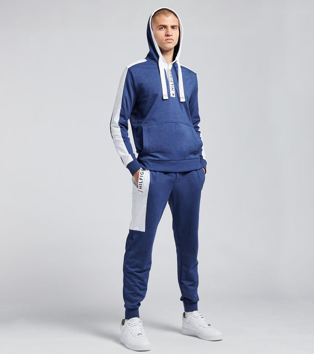 Tommy  Fashion French Terry Hoodie  Blue - 09T3644-973 | Jimmy Jazz