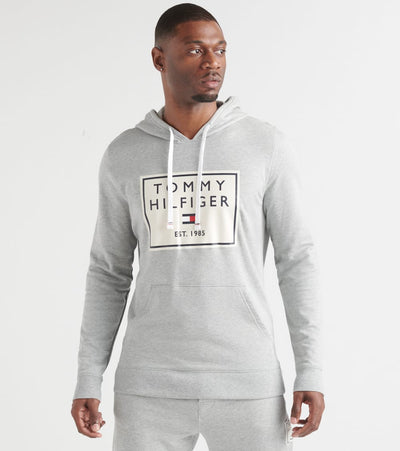 Tommy  Brushed Back Fleece Pullover Hoodie  Grey - 09T3648-004 | Jimmy Jazz