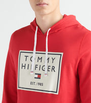 Tommy  Brushed Back Fleece Pullover Hoodie  Red - 09T3648-608 | Jimmy Jazz