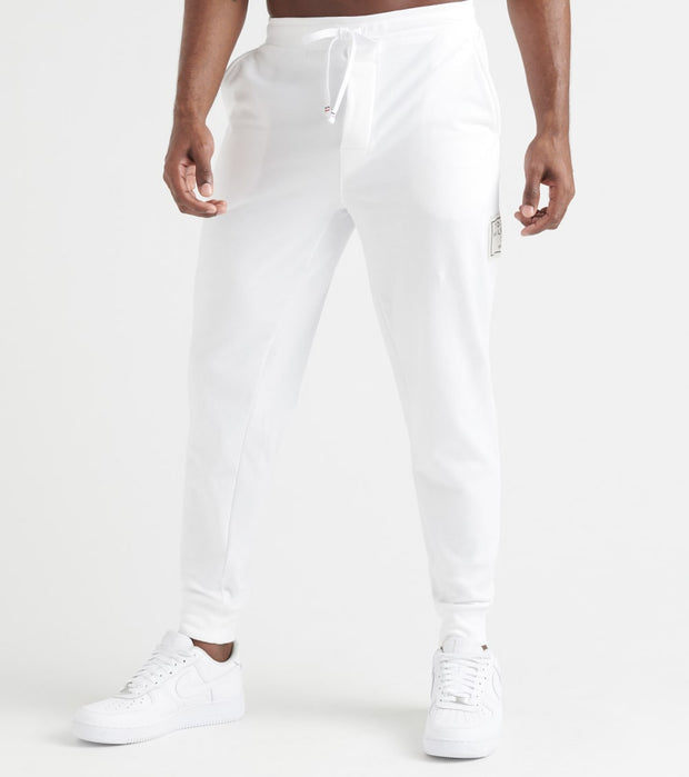 Tommy  Brushed Back Fleece Joggers  White - 09T3722-100 | Jimmy Jazz