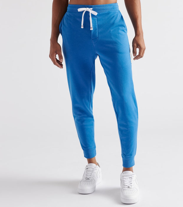 Tommy  Brushed Back Fleece Joggers  Blue - 09T3722-437 | Jimmy Jazz