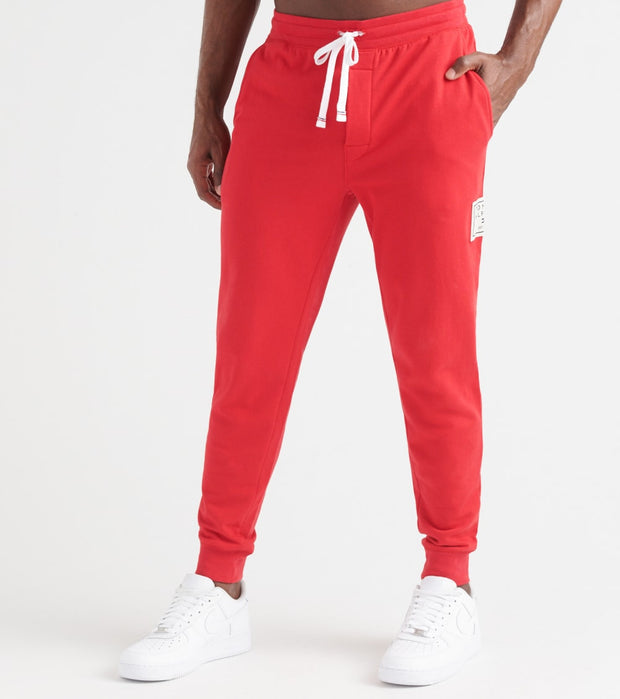 Tommy  Brushed Back Fleece Joggers  Red - 09T3722-608 | Jimmy Jazz