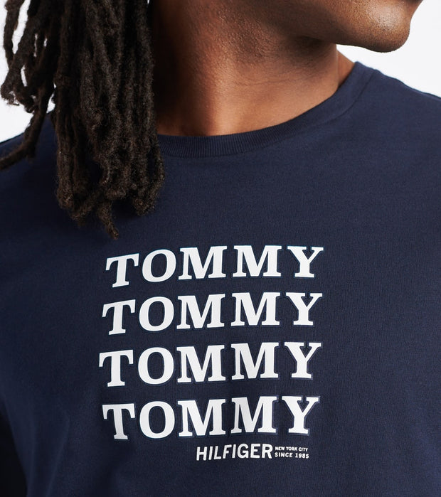 Tommy  Tommy Repeat Tee  Blue - 09T3744-410 | Jimmy Jazz