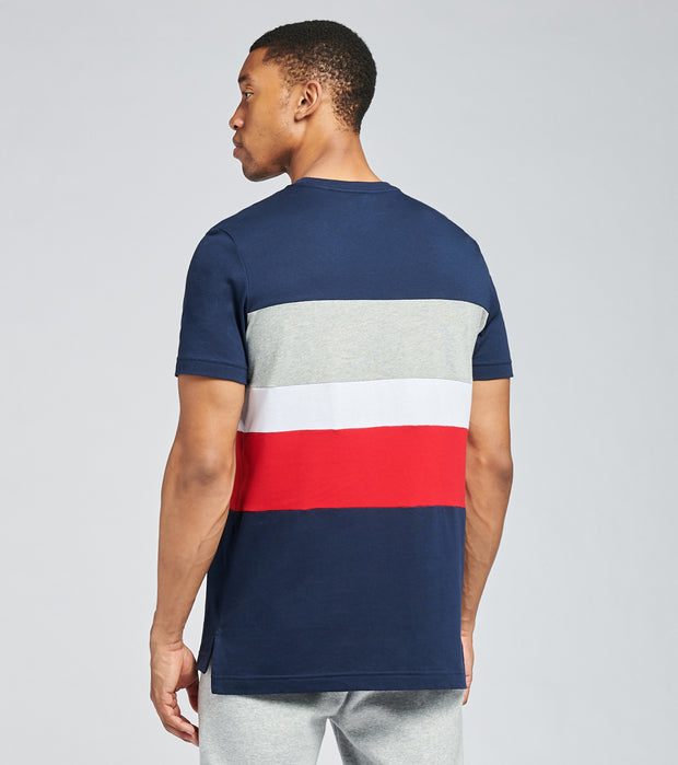 Tommy  Colorblocked Short Sleeve Tee  Navy - 09T3767-410 | Jimmy Jazz