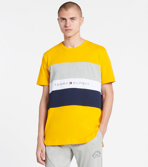 Tommy  Tommy Block Stripe Tee  Yellow - 09T3767-753 | Jimmy Jazz