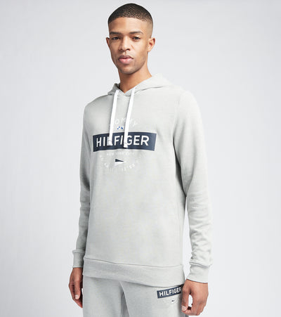 Tommy  Front Graphic Pull Over Hoodie  Grey - 09T3994-004 | Jimmy Jazz