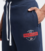 Tommy  Elastic Waist Logo Shorts  Navy - 09T3998-410 | Jimmy Jazz