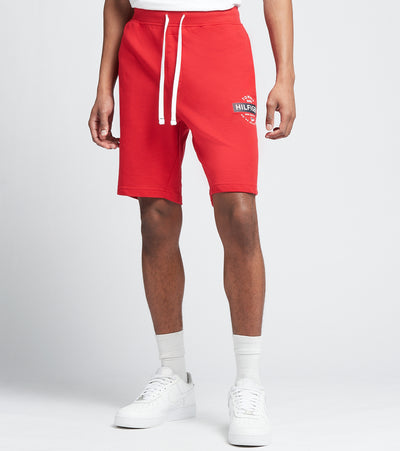 Tommy  Elastic Waist Logo Shorts  Red - 09T3998-608 | Jimmy Jazz