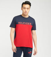 Tommy  Colorblocked Short Sleeve Tee  Red - 09T4020-608 | Aractidf